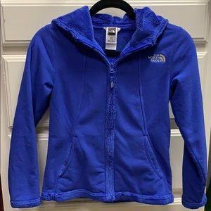 Girls Hooded North Face Fleece Jacket